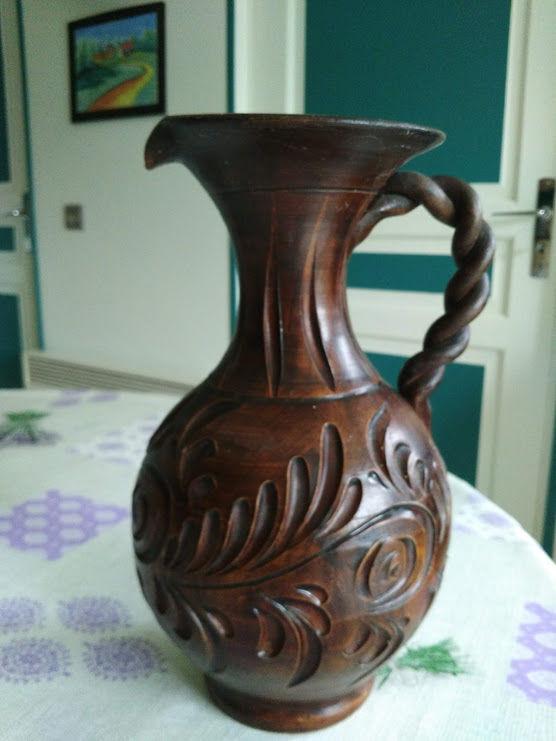 vase aiguière effet bois Décoration