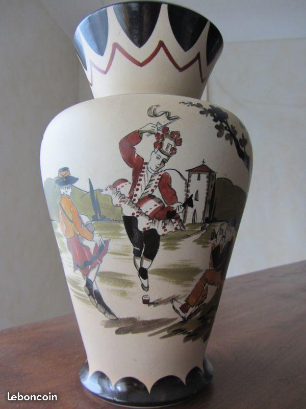 Vase ancien en grès d'art basque Gaitaud 24 Saint-Thonan (29)