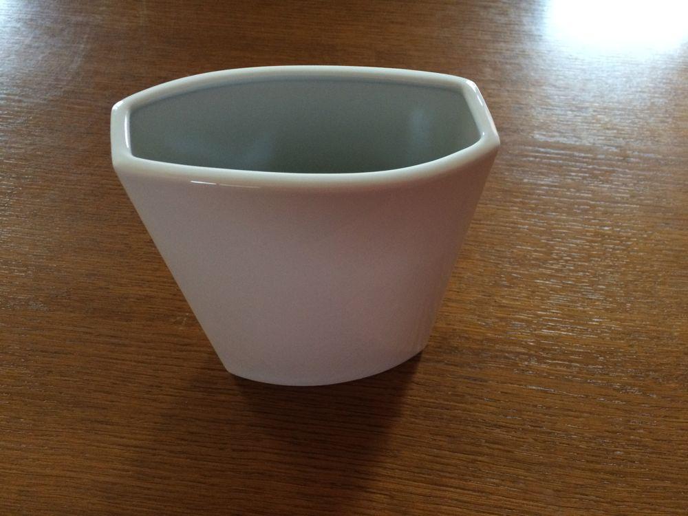 Vase blanc uni en céramique rectangulaire 5 Aremberg (59)