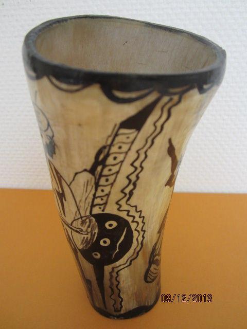 Vase ou Coupe en CORNE décoration  AFRICA  10 Sassenage (38)