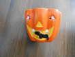 Vase forme citrouille Halloween TBE