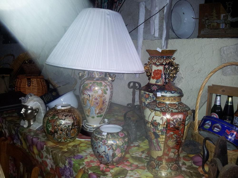 Vase et pied de lampe chinois  0 Bertrange (57)