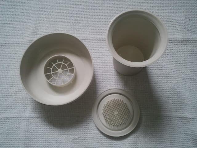 Vase et Pique-fleurs  Tuppercraft  de Tupperware - Vintage 10 Lisses (91)