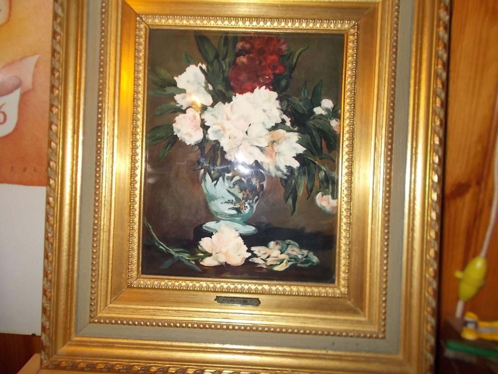 Vase de pivoine auteur MANET Décoration