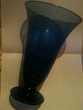 Vase transparent bleu 25 cm qui sonne cristal
