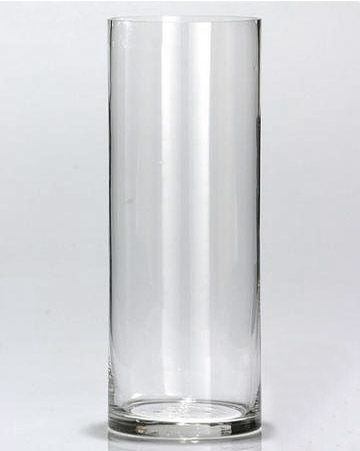 Vase en verre cylindrique 24 Nancy (54)