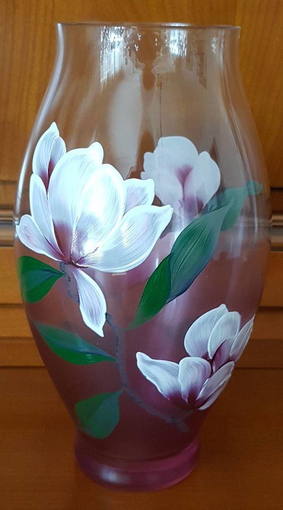 Vase en verre peint à la main 30 Marignane (13)