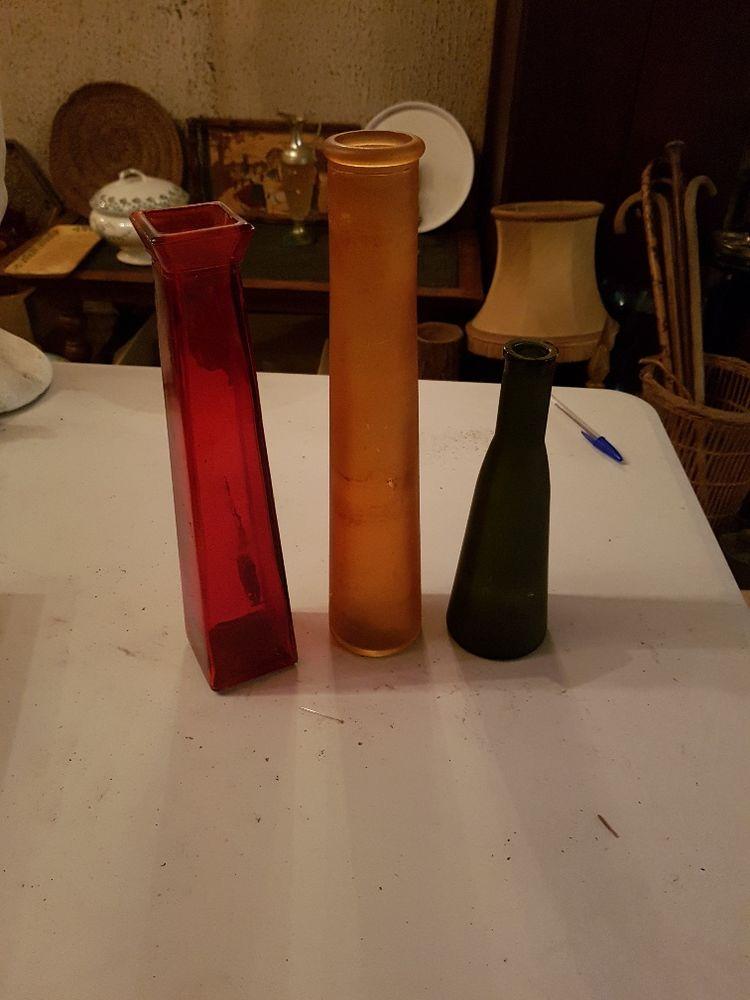 Lot de 5 vases soliflores dont 3 vintage 10 Mouxy (73)