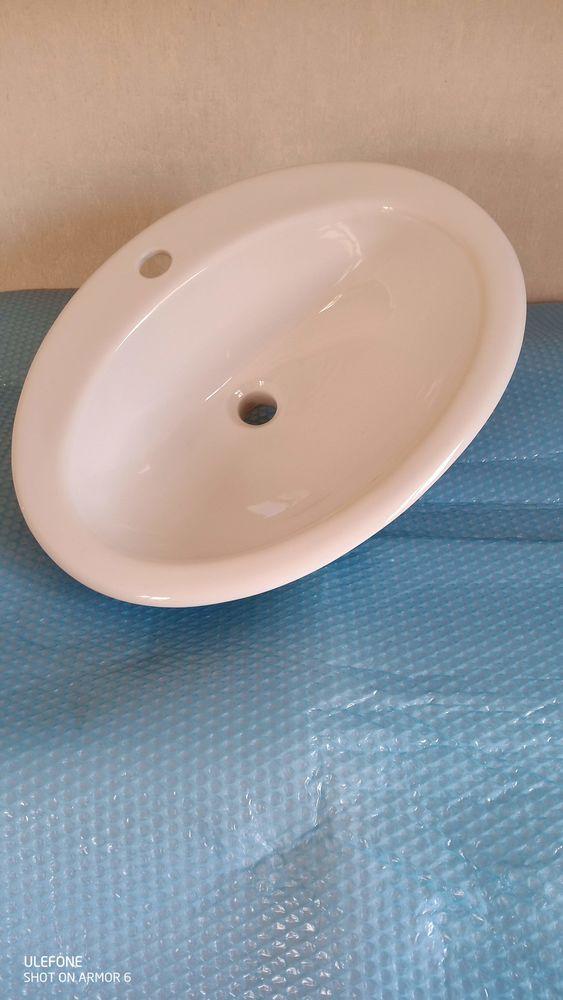 Vasque en céramique blanc neuf jamais utilisé 30 Carcassonne (11)