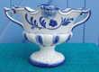 Vasque en porcelaine bleue et blanche - Médicis