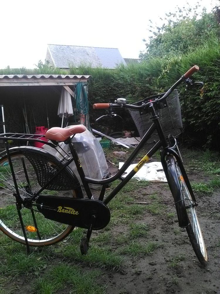 C est un velo hollandais de femme noir avec panier  100 Mayenne (53)