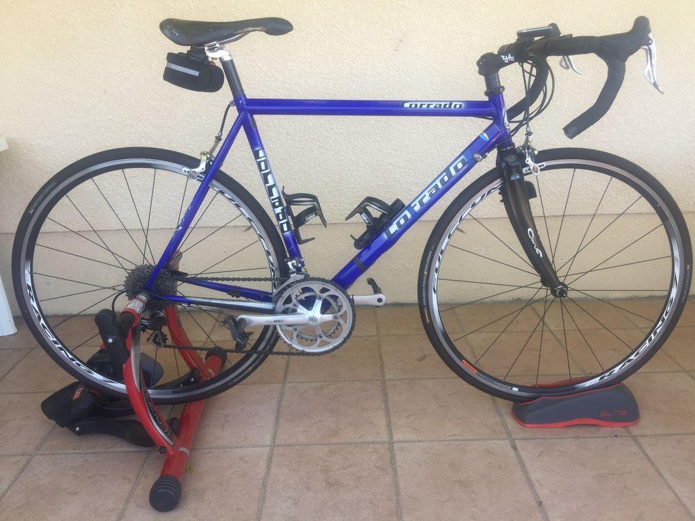 Vélo route Corrado et Home trainer Elite plus roue adaptée 850 Belin-Béliet (33)