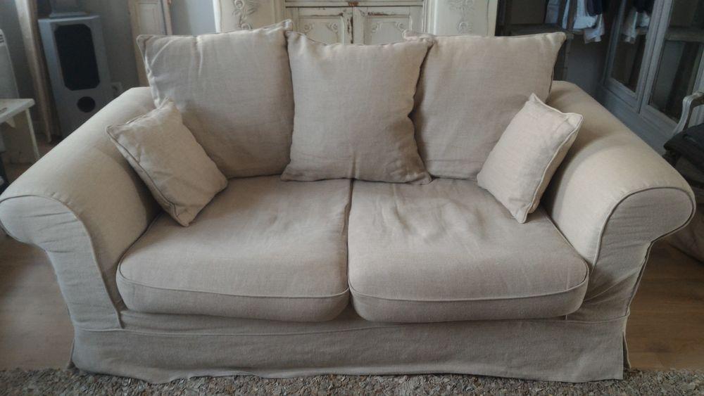 Vend canapé en lin AMPM 3Places 250 Nantes (44)