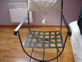vend fauteuil fer forger 65 Manneville-sur-Risle (27)