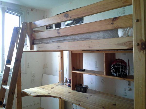 lits mezzanine occasion dans l 39 essonne 91 annonces. Black Bedroom Furniture Sets. Home Design Ideas
