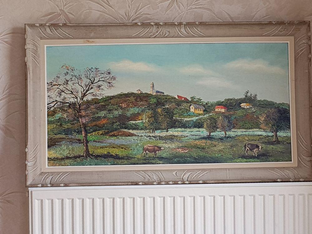 Vend 2 peintures au couteau tres bon état 150e Décoration