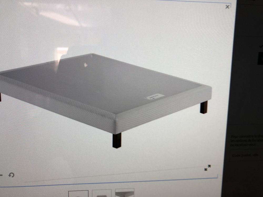 vend sommier tapissier simmons 160x200 . Blanc . Neuf  200 Cambrai (59)