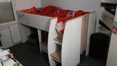 vend lit surélevé avec bureau 80 Montauban (82)