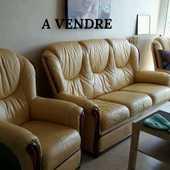 vends canapé et 2 fauteuils cuir 300 Saint-Herblain (44)