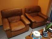 vends 2 fauteuils cuir  180 Saint-Pierre-le-Vieux (71)