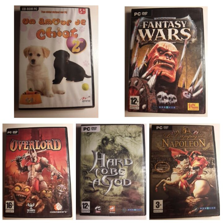 Vends gros lot de 200 jeux PC - DVD - jeu PC neuf 20 Pérenchies (59)