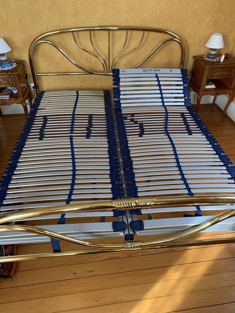 Vent lit métal doré deux personnes 1m90 sur 1m60 200 Sélestat (67)
