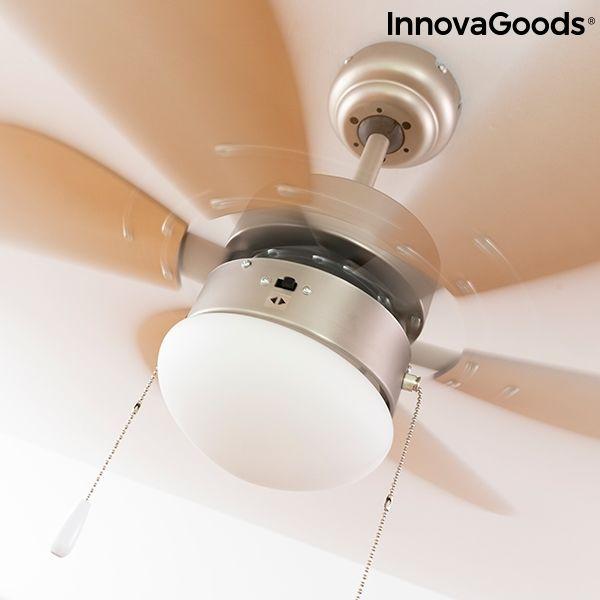 Ventilateur de Plafond avec Lumière InnovaGoods Ø 75 cm 55W 51 Rezé (44)