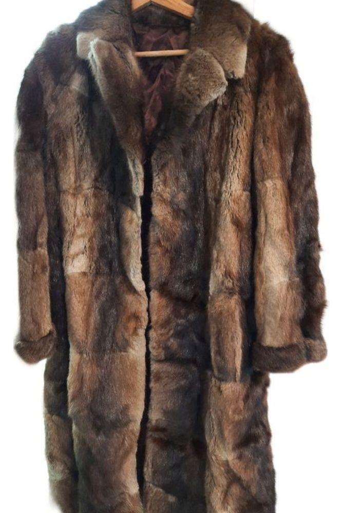 Veritable Fourrure en vison TARANTO BORDEAUX Vêtements