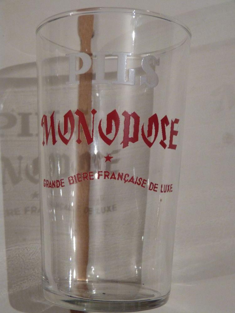 VERRE  a bière  PILS MONOPOSE 3 Brest (29)