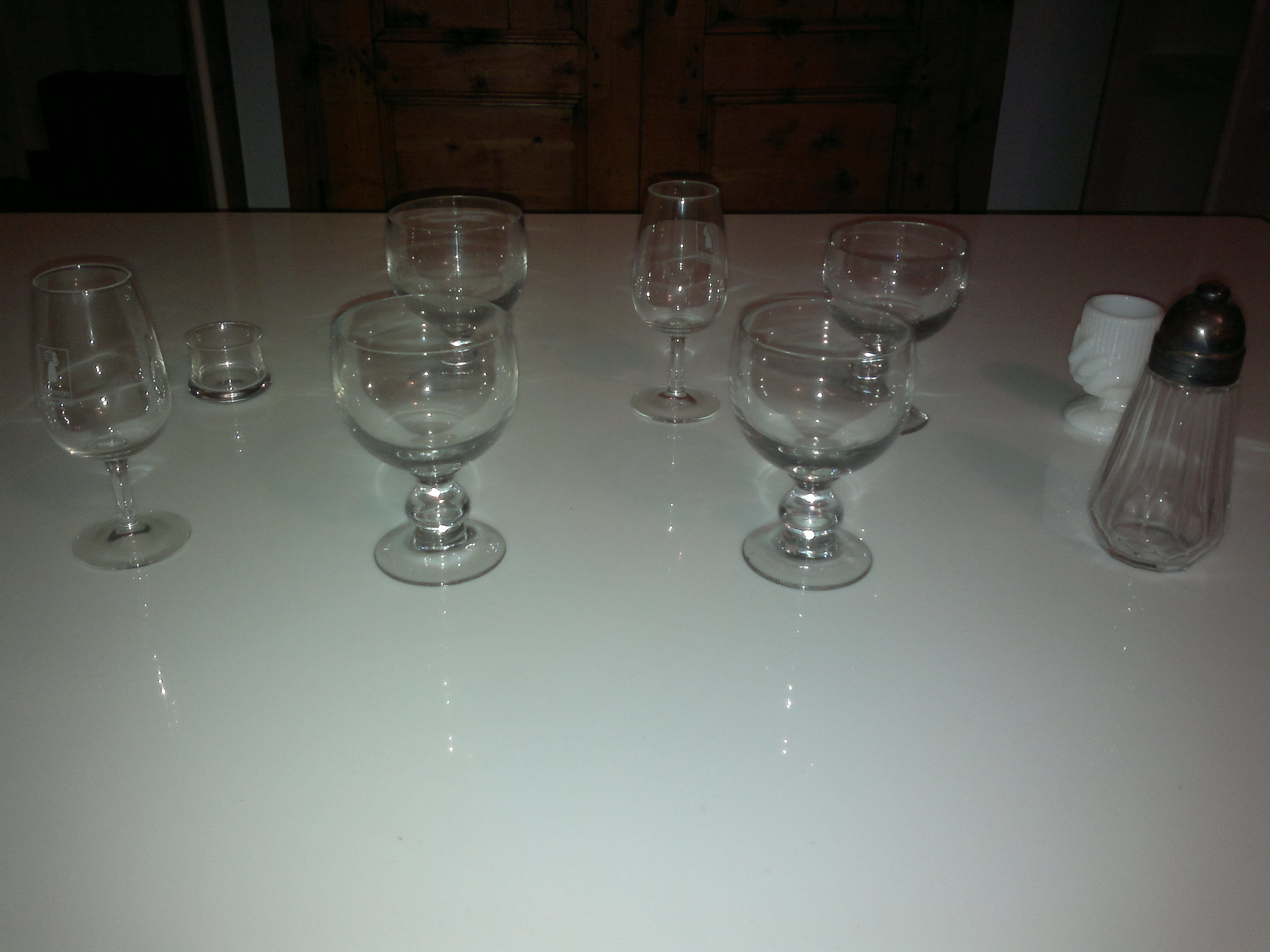 Lot verre à vin coupe champagne à liqueur sucrier salière 10 Paris 13 (75)