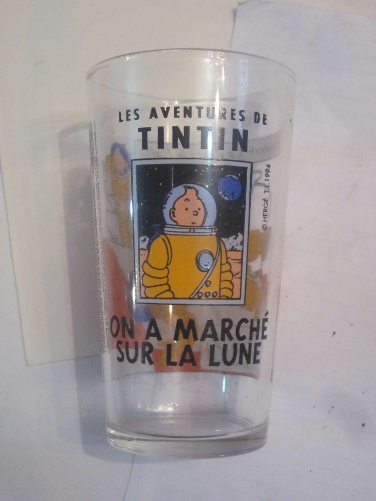 verre  TINTIN  -  ON A MARCHE SUR LA LUNE 5 Brest (29)