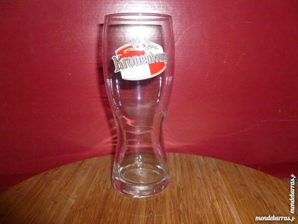 T33: 6 verres à bière KRONENBORG/pied, évasé 25 cl 8 Vauréal (95)