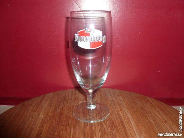 T33:6 verres à bière KRONENBOURG/Pied ovales 25 cl 8 Vauréal (95)