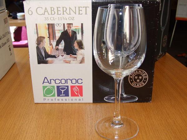 6 Verres cabernet Arcoroc 35 cl 12 Nantes (44)