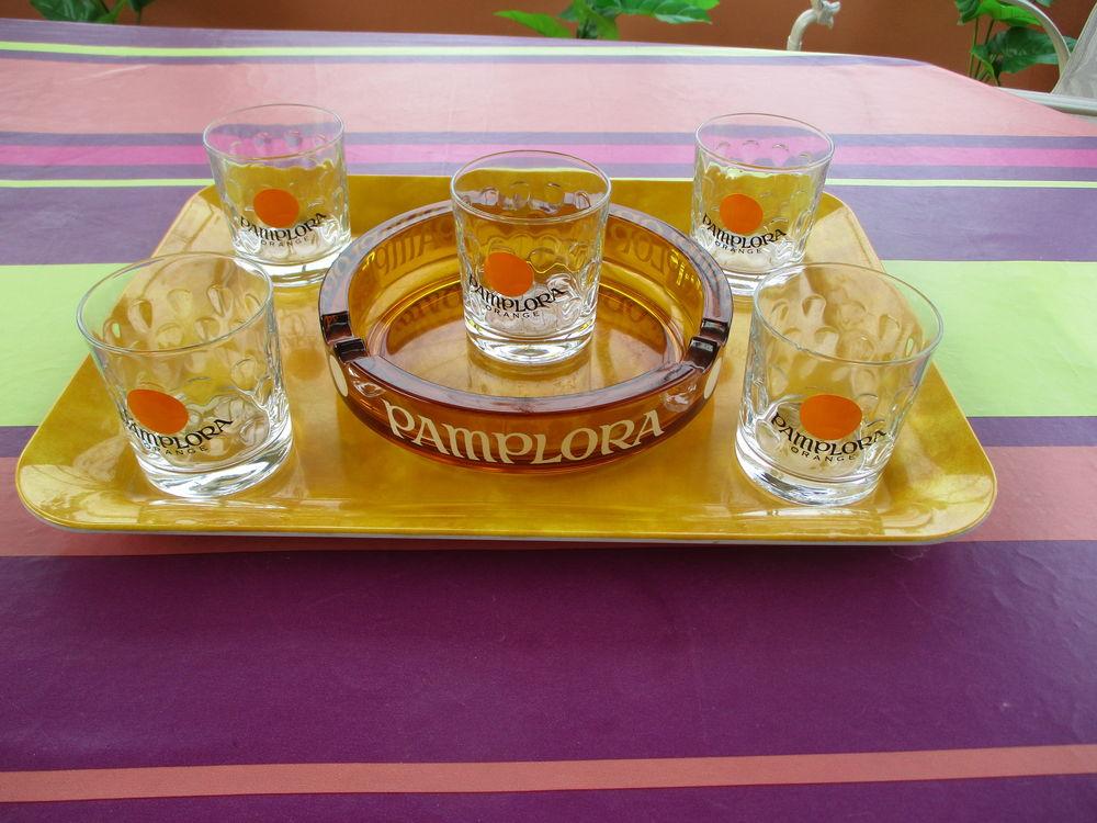 Lot de 5 verres + Cendrier  PAMPLORA  15 Le Vernois (39)