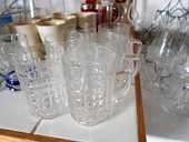 Lot de 6 verres chope à bière H 10cm D 7cm 10 Monflanquin (47)