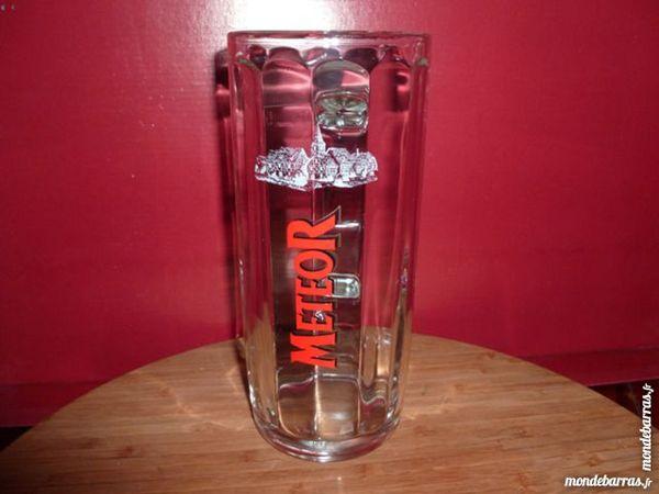 T33: 6 verres (chopes) à bière METEOR 50 cl 12 Vauréal (95)