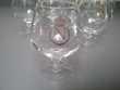 6 verres à cognac en cristal/véritables 'Napoléon'