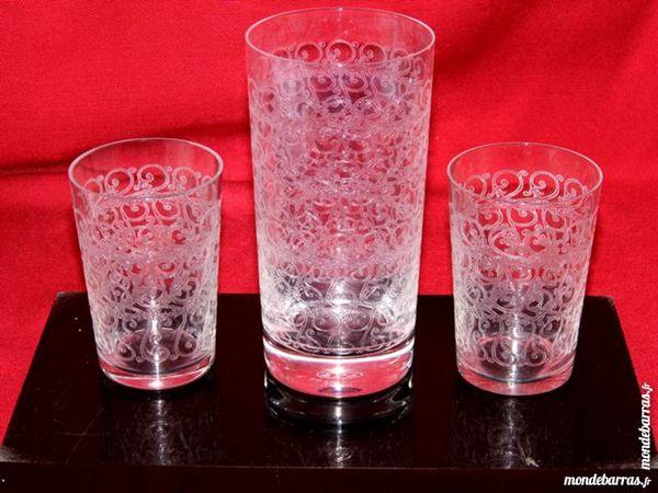 3 verres cristal  BACCARAT ROHAN EMIN FRANCE 60 Dunkerque (59)