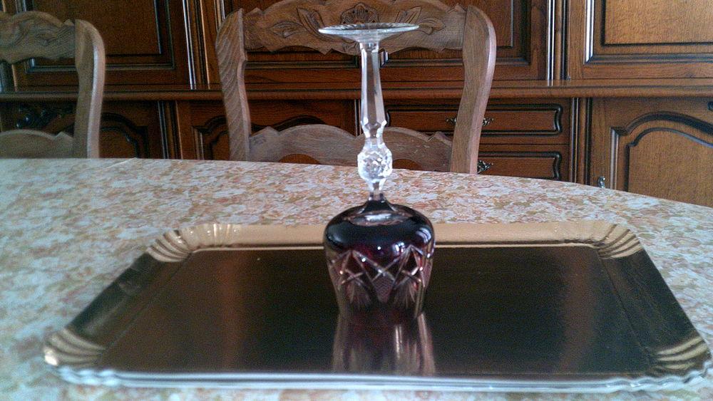 6 verres en cristal de bohême