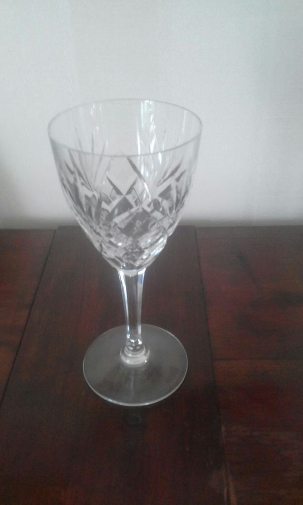 verres a eau cristal St Louis - estampillés  400 Agen (47)