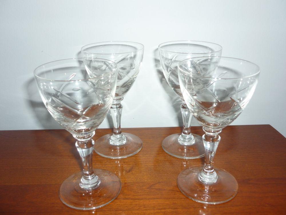 4 verres en cristal 30 Agen (47)