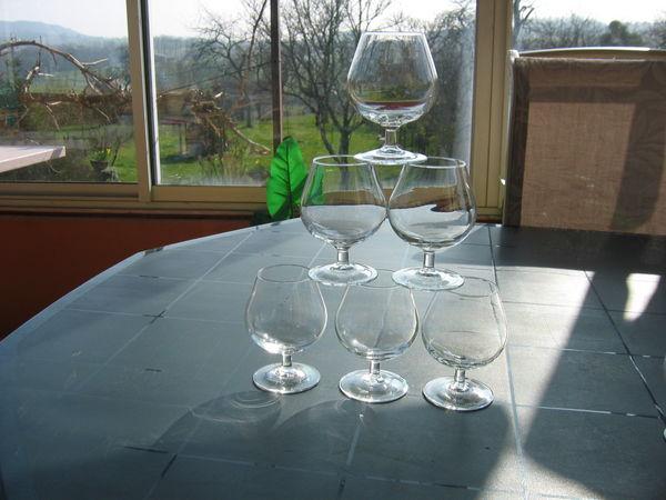 6 verres à dégustation de 20 cl 30 Le Vernois (39)