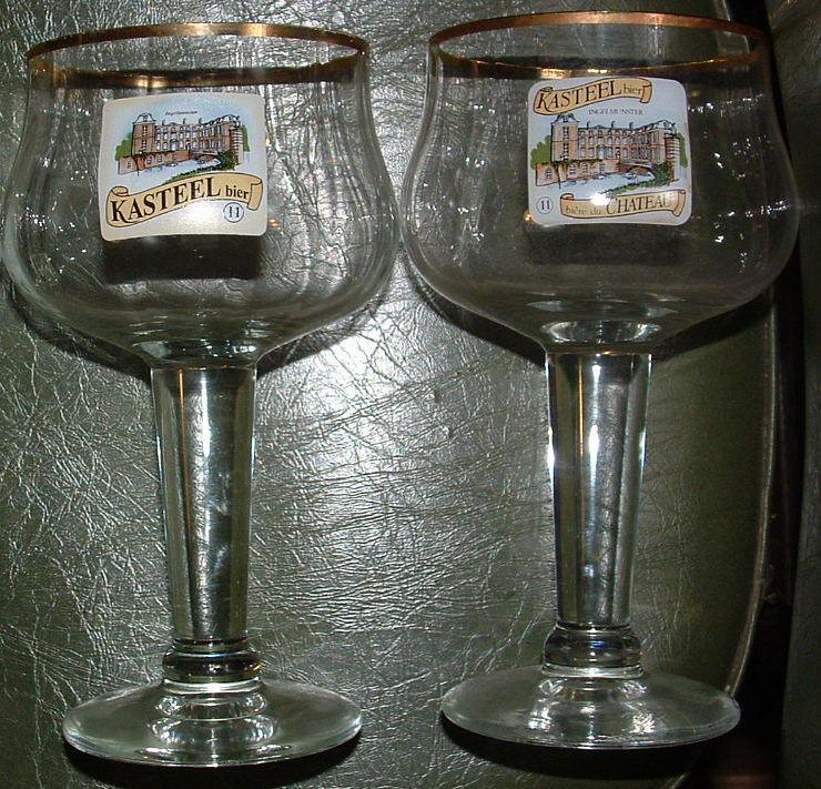 verres KASTEEL bière du Chateau 3 Montcy-Notre-Dame (08)
