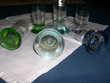 6 verres à liqueur bases colorées Décoration