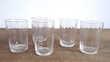 5 verres à liqueur ou digestif en verre blanc