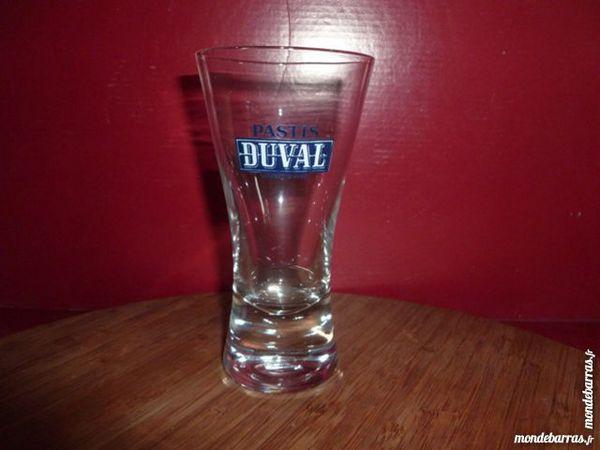 T33: 6 verres Pastis DUVAL évasés logo blanc 9 Vauréal (95)