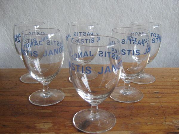 verres pastis  JANOT ancien 15 Lyon 8 (69)