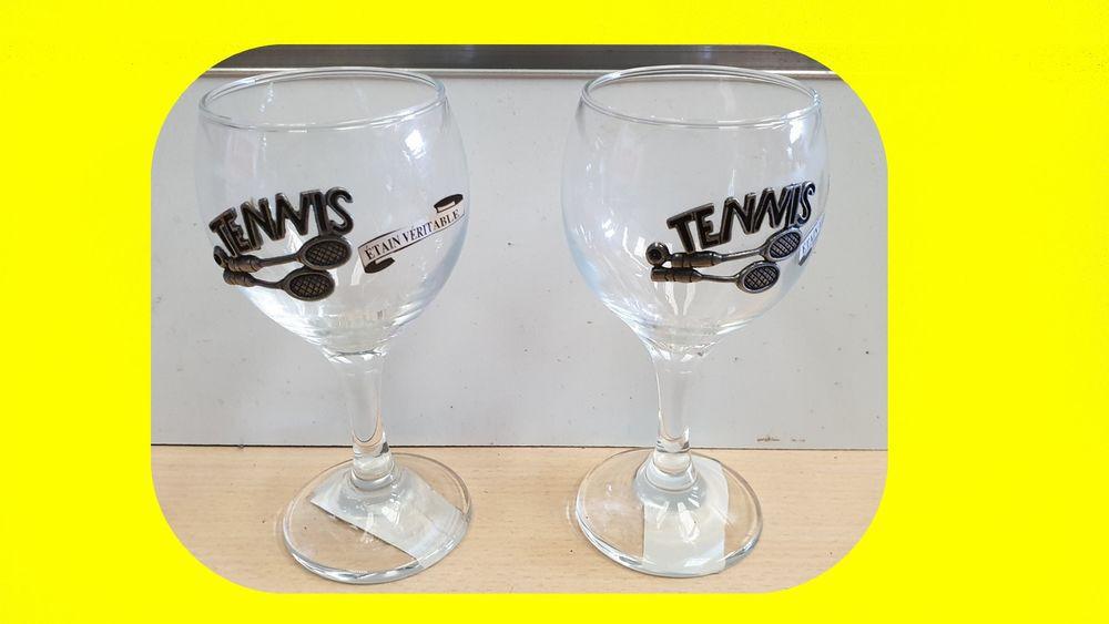 2 verres a vin relief étain véritable TENNIS Neuf 25 Saint-Pôtan (22)