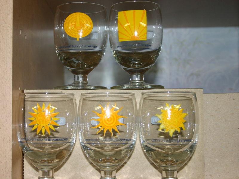 5 verres RICARD  rare Série 60 Montcy-Notre-Dame (08)